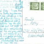 Postkarte von Frau Franke