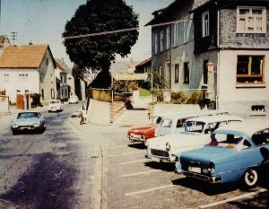 Blick auf Heftrich Gasthaus Zum Taunus Mitte 50er Jahre